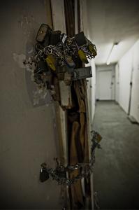Locks and Change on Door, Paul Newton Photography